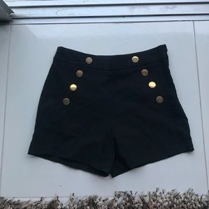 Black nasty gal high waisted shorts